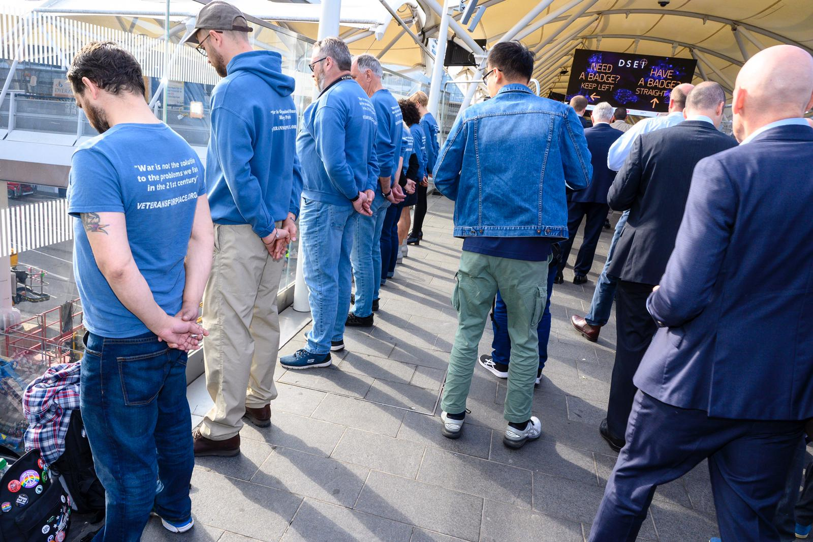 SILENT PROTEST AT THE LONDON ARMS FAIR post image